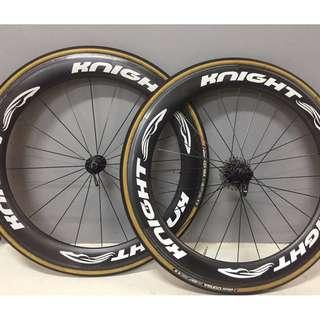 Knight Composites Pre Loved 65 carbon clincher wheel set Dt240s
