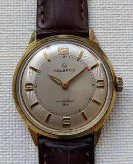Vintage 1960s Helbros Invincible Series Mechanical Watch