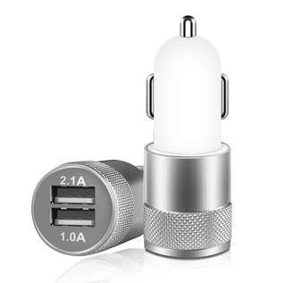 🚚 [SALE] 2 Port Dual USB Aluminum Car Charger Adapter