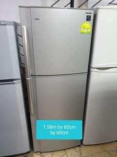 🚚 Used sharp 308 litres cheap cheap fridge in good condition
