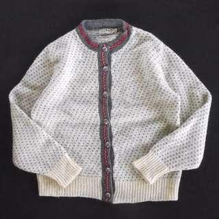 🚚 🇺🇸90s美國製L.L.Bean鳥眼針織毛衣 復古開襟外套 男女皆可Vintage 古著老品