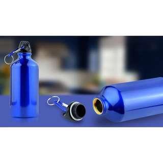 🚚 Shiny Blue Stainless Steel Water Bottle 500ML