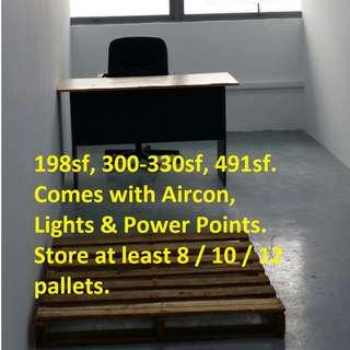 Small Warehouse/ Office/ Storage Space or combination of All for Rent (Can fit 8-12 pallets of goods)