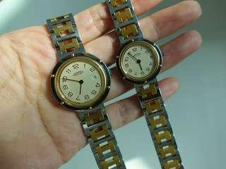 HERMES CLIPPER COUPLE WATCHES