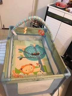 Bright Starts 小童 小朋友 Play Plan Kids Children Baby Playplan BB 嬰兒 網床 travel playpen 圍欄遊戲床 playground + 送海馬牌床肉