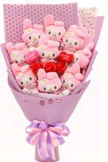 Melody Bouquet / Soap Flowers Bouquet - Valentine Day / Anniversary / Proposal / Birthday / Farewell / Get well soon