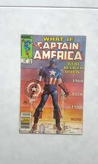 🚚 Marvel Comics  What If  44 Captain America Were Revived Today Very Fine Condition