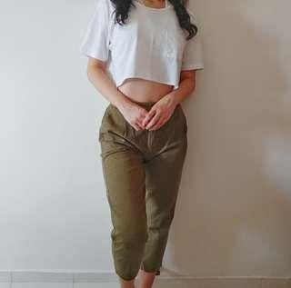 🚚 Army Green Pants