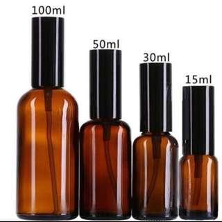 Amber Glass Spray Bottle (Atomizer)