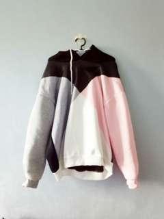 Tri color hoodie