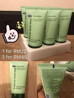 3 minutes Face Mask Cucumber Hydration Mask