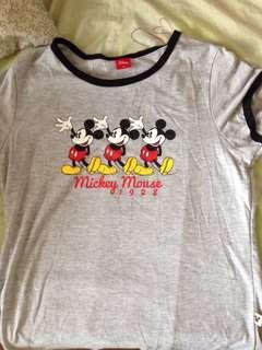 Disney original Mickey Mouse grey to
