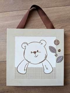 Baby Nursery Teddy Bear Cute Wall Art