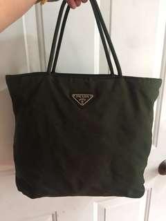 Authentic Prada nylon handbag (moss green)