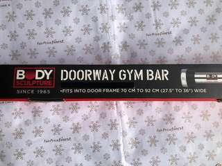 🚚 Doorway Gym Bar (Pull Up Bar)