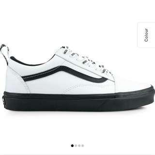 🌸 vans old skool (otw webbing) true white leather