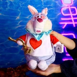 「Alice in Wonderland Disney 愛麗絲夢遊仙境 白兔 公仔 娃娃 38cm @公雞漢堡」