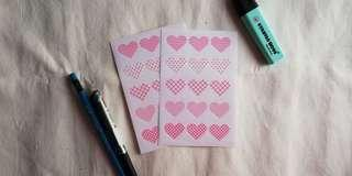 Decorated Heart Stickers