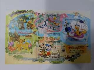 香港迪士尼開幕郵票(未蓋印)