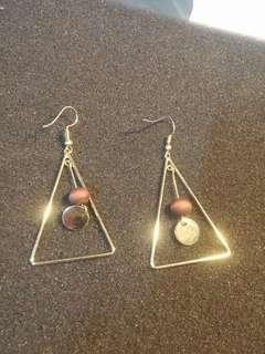 Earring for her : like Hand Percussion Triangle MUSICAL INSTRUMENT