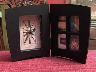 Mikasa picture frame with clock