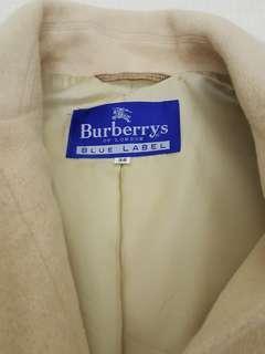 🚚 正品Burberry blue label藍標淺卡其色羊絨大衣