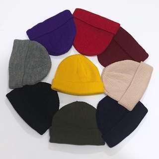 🚚 針織短毛帽
