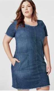 Casual denim dress xl