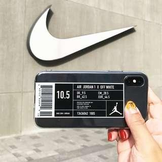 🚚 [PO] nike air jordan 1 x off white transparent iphone case