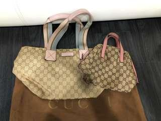 🚚 Authentic preloved Gucci bag 2 bags for only total  $50