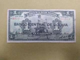 Heavily circulated 1911 Bolivia