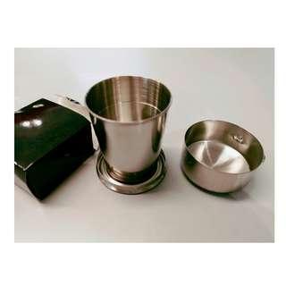 不锈鋼摺疊旅行杯