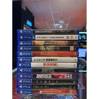 USED GAMES PS4