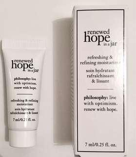 Philosophy 'renewed hope in a jar' moisturiser sample