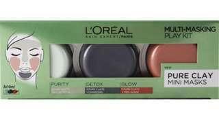 🚚 Loreal 3 mini clay mask kit