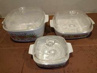 Corning ware carousel set