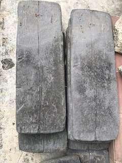 Woodstone Sleepers : wood effect paving slabs