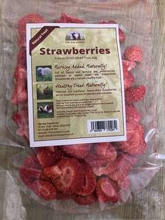 Freeze dried strawberries (the hay experts) rabbit