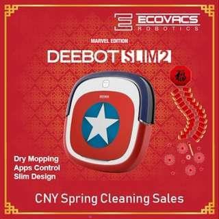 Ecovacs Deebot Marvel Slim 2 Robot Vacuum Cleaner (100% real)