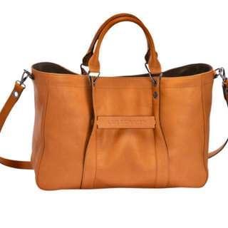 LONGCHAMP 3D Tote Bag Medium Beige  全新小牛皮手袋手提包
