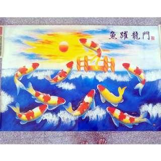 #MRTYishun ⭐FREE Prosperity Wall art poster 魚躍龍門 - FOC Blessing