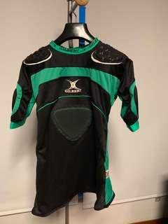 Gilbert Body Armour Rugby pad shirt green