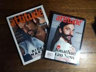 Bundle - Attitude Magazines Ricky Martin and Jonatan van Ness