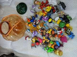 Lots of small kids toys