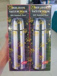 Vacuum Flasks (Stainless Steel) - Twin Pack