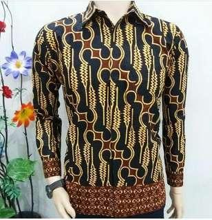 Kemeja Pria Batik Lengan Panjang