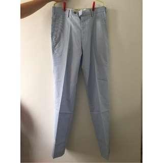 Celana Bahan UNIQLO - Warna Biru Muda