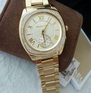 MK BRYN GOLD PLATED AUTHENTIC WATCH