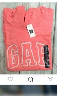 🚚 正正版Gap粉橘色薄款長袖帽T