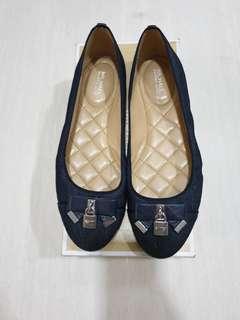 Michael Kors Alicce Ballet Denim flat shoes 100% Authentic